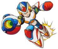 Mega Man X - Mega Man X dashing with his Second Armor