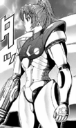 Metroid - Samus Aran as she appears in the manga