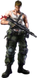 Contra - Bill as he appears in Contra Evolution