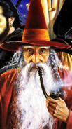 Forgotten Realms - Elminster Aumar as he appears on the limited edition front cover of The Grand Tour