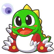 Bubble Bobble - Bub as he appears in Bust-A-Move Universe