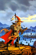Forgotten Realms - Elminster Aumar as he's about to visit Myth Drannor by Ciruelo Cabral
