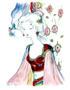 Final Fantasy VI - Terra Branford by Yoshitaka Amano