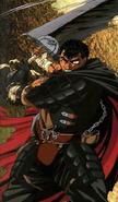 Berserk - Guts swinging his Dragonslayer Sword