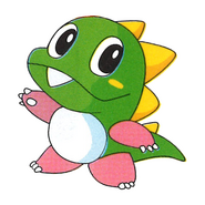 Bubble Bobble - Bub as he appears in Bust-A-Move 3