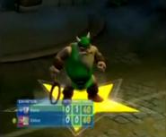 Golden Axe - Gilius Thunderhead as he appears in Sega Superstars Tennis