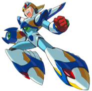 Mega Man X - Mega Man X wearing his Falcon Armor