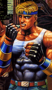 Streets of Rage - Axal Stone as he appears on the Bare Knuckle Sega Mega Drive Front Box Cover Art