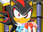 Sonic The Hedgehog - Shadow The Hedgehog holding the Chaos Emeralds