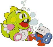 Bubble Bobble - Bub as he appears in Bubble Bobble Part 2