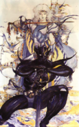 Final Fantasy IV - The Dark Side & Light Side of Cecil Harvey by Amano Yoshitaka