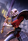 MediEvil - Sir Daniel Fortesque in the sleeping village