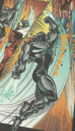 Killer Instinct - Fulgore uppercutting T.J. Combo as seen in the Comic Book Version