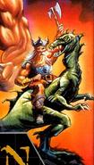 Golden Axe - Gilius Thunderhead as he appears on the game Golden Axe's cover