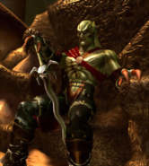 Legacy of Kain - Kain sitting on his throne as seen in Soul Reaver