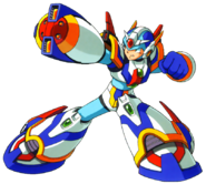 Mega Man X - Mega Man X wearing his Forth Armor