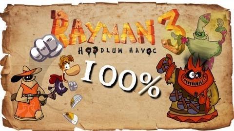 Rayman 3 Hoodlum Havoc - FULL 100% Walkthrough - ALL Cages 1080p