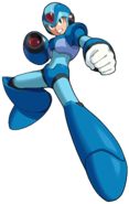 Mega Man X - Mega Man X in his stance