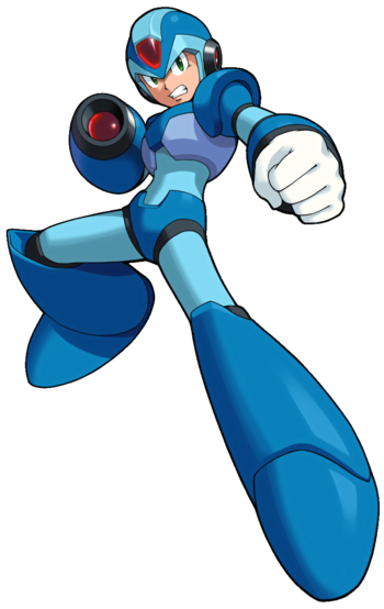 Mega Man X - Mega Man X in his stance