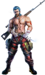 Contra - Lance as he appears in Contra Evolution