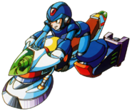 Mega Man X - Mega Man X riding a speed hover bike