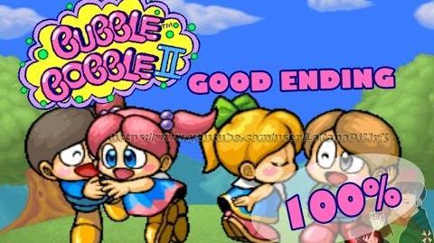 Bubble Bobble II Symphony (バブルシンフォニー) GOOD ENDING 100% Arcade 1994 HD