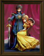 Dragon Quest - The Decedent of Erdrick with Princess Gwaelin