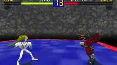 Earthworm Jim in Battle Arena Toshinden (PC)