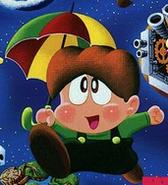 Bubble Bobble - Bubby as he appears in Parasol Stars