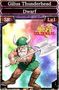Golden Axe - Gilius Thunderhead card from Kingdom Conquest II