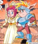 Rocket Knight - Sparkster as he appears in Sonic the Comic