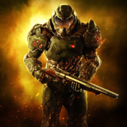 Doom - Doomguy as see in the rebooted Doom 2016
