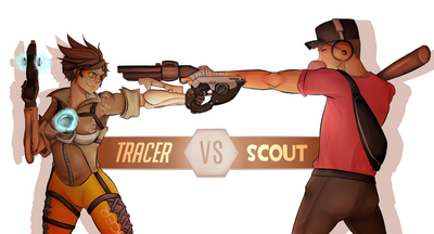 Tracer vs the scout by anime grimmy-dabky6r