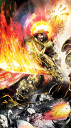 Warhammer 40000 - The God Emperor of Mankind swinging his Flame Sword