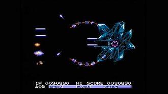 Gradius II (Famicom NES) Full Run with No Deaths (No Miss)
