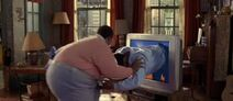 Fat Albert Pushing Bill Fat Into The Tv