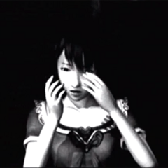 Mio, in shock after performing the Crimson Sacrifice.