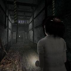 Miku at the Rope Hallway.