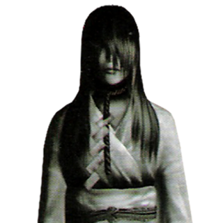 A closer image of Kirie's ghost. Note the rope around her neck.