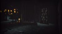 The back of Kureha Shrine in Fatal Frame II: Deep Crimson Butterfly with the secret passageway open