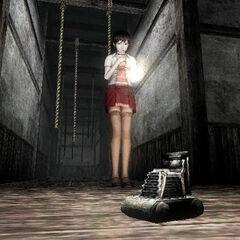 Miku finds the camera in Fatal Frame III