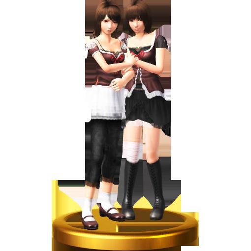 Image - SSB4-WiiU - Mio & Mayu Trophy.png | Fatal Frame Wiki ...