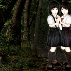 Promotional artwork showing the younger Mio and Mayu.