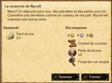 Fin La revanche de Nycoll