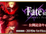 Fate/stay night Heaven's Feel II Premiere Commemoration Campaign