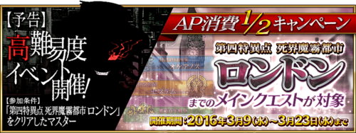 London AP Half and Higher difficulty Quest event