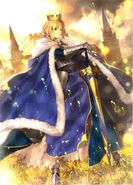 Artoria pendragon and saber fate stay night and fate series drawn by takeuchi takashi 155205d303d7d6b77d1f7cb96a7633b0