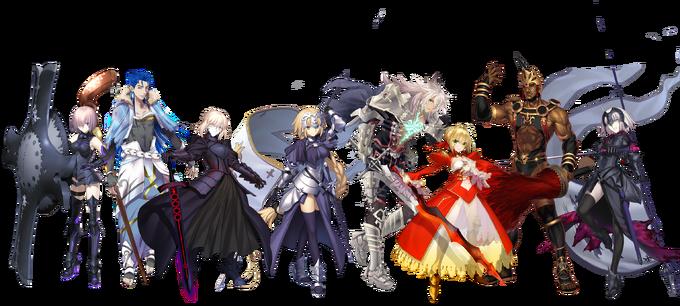 Fate Grand Party Part I servants