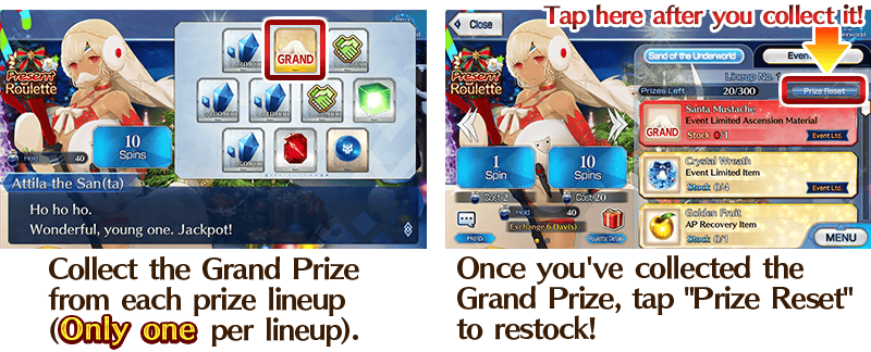 Fgo Christmas 2020 Reset After Grand Prize Christmas 2019 Event (US)/Lottery Info | Fate/Grand Order Wikia
