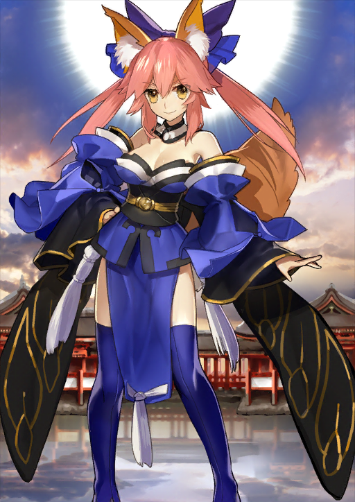 Fate//Grand Order EXTRA CCC Fox Tail Cosplay Tamamo no Mae Anime Gold Tail Ear
